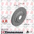 Zimmermann Sportbremsscheiben + Bremsbeläge hinten Audi A8 für PR Nr. 1KW
