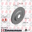 Zimmermann Sportbremsscheiben + Bremsbeläge hinten Audi A4 B6 mit PR Nr. 1KE S4