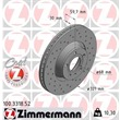 2 Zimmermann Sportbremsscheiben vorne Audi A6 C6 A8 für PR-Nummer 1LG 1LD 1LV