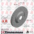 2 Zimmermann Sportbremsscheiben vorne Audi TT 8J für PR-Nummer 1LM 1LK 1LN