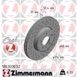 Zimmermann Sportbremsscheiben + Bremsbeläge vorne Audi A4 A5 für PR. Nr. 1LT 1LY
