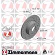 1 Zimmermann Sportbremsscheibe Alfa Romeo 147 156 164 Lancia Delta Lybra Thema