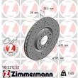 Zimmermann Sportbremsscheiben + Bremsbeläge vorne Alfa Romeo 159 Brera Spider
