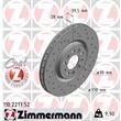 Zimmermann Sport-Bremsscheiben + Bremsbeläge VA Alfa Romeo 159+Sportwagon 939 Brera Spider 1,8-3,2