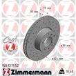 Zimmermann Bremsscheiben + Bremsbeläge vorne BMW 8 E31 840i 840Ci 850Ci ab Bj. 03/1994 + Sensor