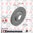 Zimmermann Sportbremsscheiben + Bremsbeläge vorne BMW 3 E36 Coupe + Cabrio M3 3,0