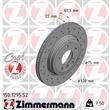 1 Zimmermann Sportbremsscheibe 150.1295.52 BMW 3er