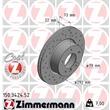 1 Zimmermann Sportbremsscheibe 150.3424.52 BMW 1er 3er