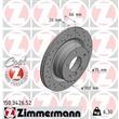 Zimmermann Sport-Bremsscheiben+Bremsbeläge vorne + hinten BMW 3 E90 + Coupe 316 318 320 325