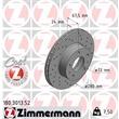 Zimmermann Sportbremsscheiben + Bremsbeläge vorne Citroen Fiat Peugeot 1000-1400Kg