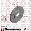 1 Zimmermann Sportbremsscheibe 180.3023.52 Citroen C4 Peugeot 207/207+ 307