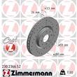 1 Zimmermann Sportbremsscheibe Alfa Romeo Mito Fiat Bravo Stilo Lancia Delta
