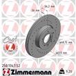 """Zimmermann Sportbremsscheiben + Bremsbeläge vorne Seat Alhambra VW Sharan T4 mit 16"""" Felgen"""