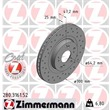 Zimmermann Sportbremsscheiben + Bremsbeläge vorne Honda Civic Type-R