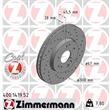 1 Zimmermann Sportbremsscheibe 400.1419.52 Mercedes 190 E-Klasse Sl Stufenheck