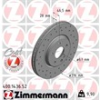 1 Zimmermann Sportbremsscheibe 400.1436.52 Mercedes C-Klasse Clk E-Klasse