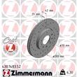 1 Zimmermann Sportbremsscheibe 430.1483.52 Opel Astra Combo Corsa Meriva Zafira