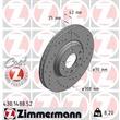 Zimmermann Sport-Bremsscheiben + Bremsbeläge VA+HA Opel Astra G Cabrio Caravan CC Coupe 2,0 16V + OPC