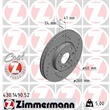 1 Zimmermann Sportbremsscheibe 430.1490.52 Opel Combo Corsa Meriva Tigra