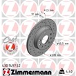 1 Zimmermann Sportbremsscheibe 430.1497.52 Fiat Croma Opel Signum Vectra Saab 9-3