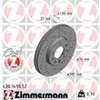 1 Zimmermann Sportbremsscheibe 430.1498.52 Fiat Croma Opel Signum Vectra Saab 9-3