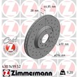 1 Zimmermann Sportbremsscheibe 430.1499.52 Cadillac Bls Opel Signum Vectra Saab 9-3 9-3x
