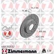 1 Zimmermann Sportbremsscheibe 440.2031.52 Citroen Peugeot