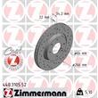 1 Zimmermann Sportbremsscheibe 440.3105.52 Citroen DS Peugeot