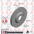 1 Zimmermann Sportbremsscheibe 440.3119.52 Citroen C5 C6 Peugeot 407 607
