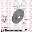 Zimmermann Sportbremsscheiben + Bremsbeläge vorne Toyota MR2 Yaris + Verso