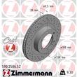 Zimmermann Sportbremsscheiben + Bremsbeläge vorne Toyota Hilux Land Cruiser