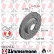 Zimmermann Sportbremsscheiben + Bremsbeläge vorne Audi A4 B5 bis 7/1997