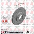 1 Zimmermann Sportbremsscheibe 600.3209.52 Ford Galaxy Seat Alhambra VW Sharan