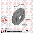 1 Zimmermann Sportbremsscheibe 600.3212.52 VW Transporter