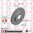 Zimmermann Sport-Bremsscheiben + Bremsbeläge HA VW T5 T6 + Multivan Bus Kasten Pritsche PR 2E3 2E4
