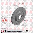 1 Zimmermann Sportbremsscheibe 610.1199.52 Volvo C70 S70 V70