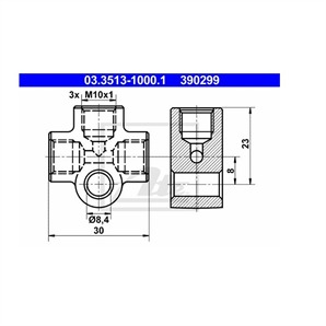 ATE Verbindungs-/Verteilerstück 03.3513-1000.1