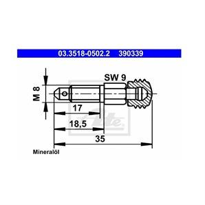 ATE Entlüfterschraube/-ventil ATE Entlüfterschraube/-ventil 03.3518-0502.2