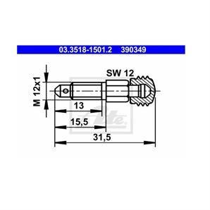 ATE Entlüfterschraube/-ventil ATE Entlüfterschraube/-ventil 03.3518-1501.2