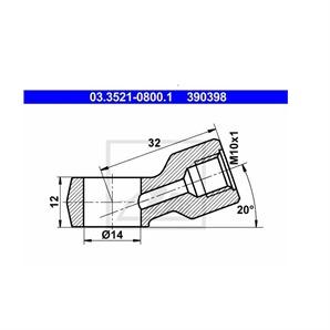 ATE Ringstutzen für Rohrleitung 03.3521-0800.1