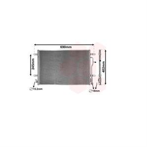 Klimakondensator ohne Trockner Audi A4 + Avant Cabriolet 1,6-3,2 + TDI FSI S4