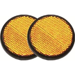 Reflektor Set rund orange geklebt