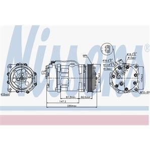 Nissens Klimakompressor VW LT Transporter T4