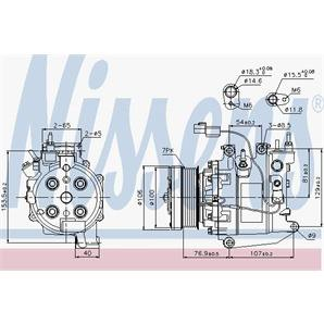 Nissens Klimakompressor Honda Civic Fr-V