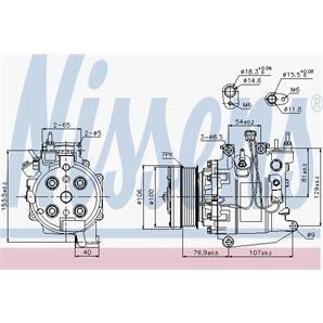 Nissens Klimakompressor Honda Civic Cr-V Fr-V