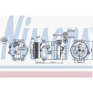 Nissens Klimakompressor Cadillac BLS Fiat Croma Opel Signum Vectra C