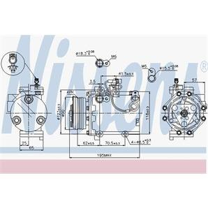 Nissens Klimakompressor Fiat Sedici Suzuki Swift Sx4
