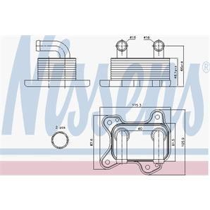 Nissens Ölkühler Chevrolet Corsa Opel Astra Combo Corsa