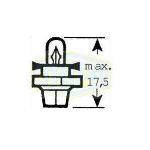 Auto-Lampe 12 V  1,2W  BX 8,4 d