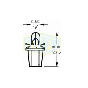 Kunstoffsockellampe 12V1,2WBX8,5d